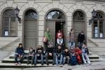 """Die Gruppe (zwei Schüler waren krank) vor der """"Alte Synagoge Hechingen"""""""
