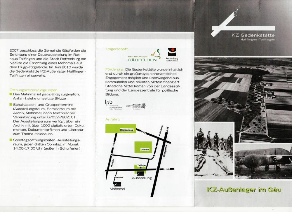 Eröffnung der KZ Gedenkstätte Hailfingen/Tailfingen (1/6)