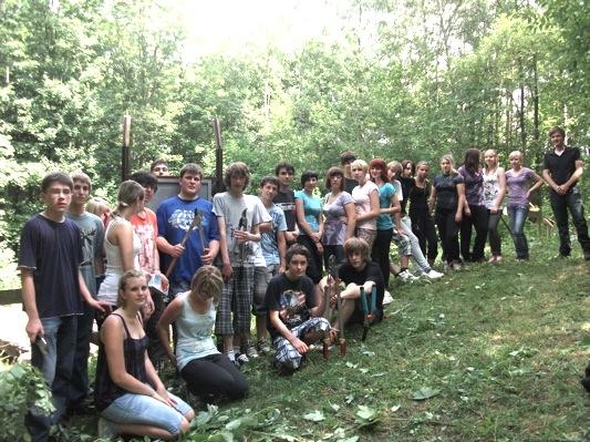 Schüler-Aktion im Kuhloch/Exkursion der Weiher-Schule Hechingen (5/6)