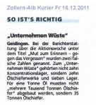 """Geisligen -ZAK """"So ist's richtig"""" 16.12.2011"""