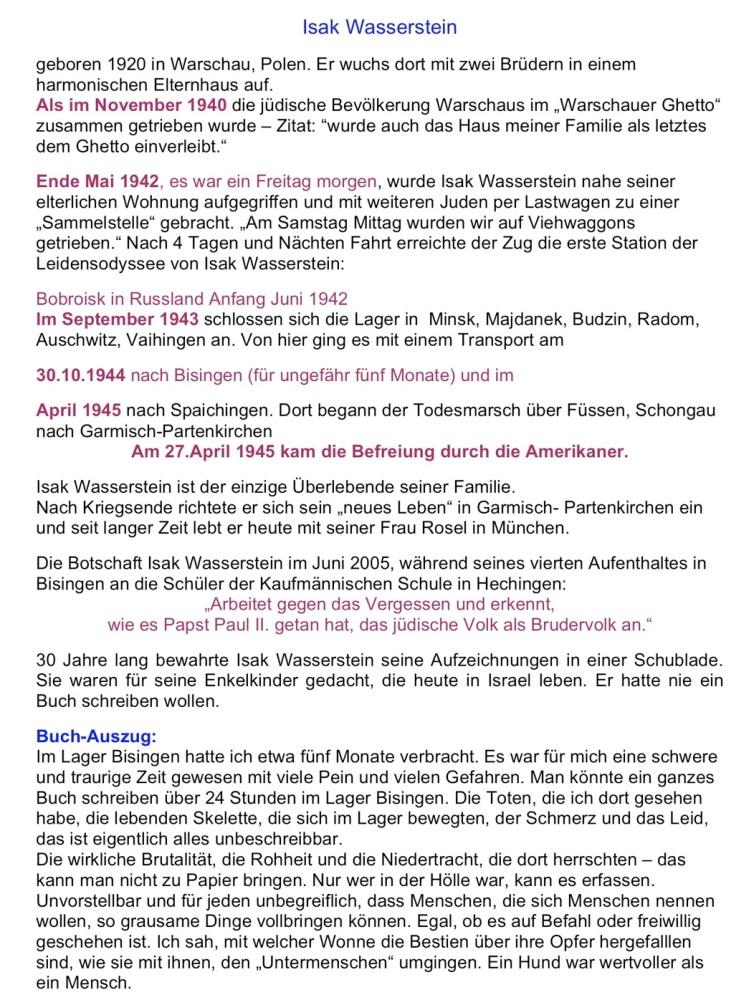 Nachruf zum Tod von Isak Wasserstein - München am 05. Januar 2012 (3/6)
