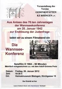 Bisisngen Die Wannsse-Konferent - Veranstaltung am 20.01.2012