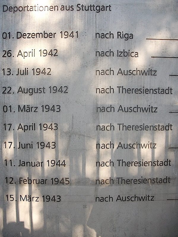 70. Jahrestag der Deportation vom Stuttgarter Nordbahnhof nach Theresienstadt (3/6)
