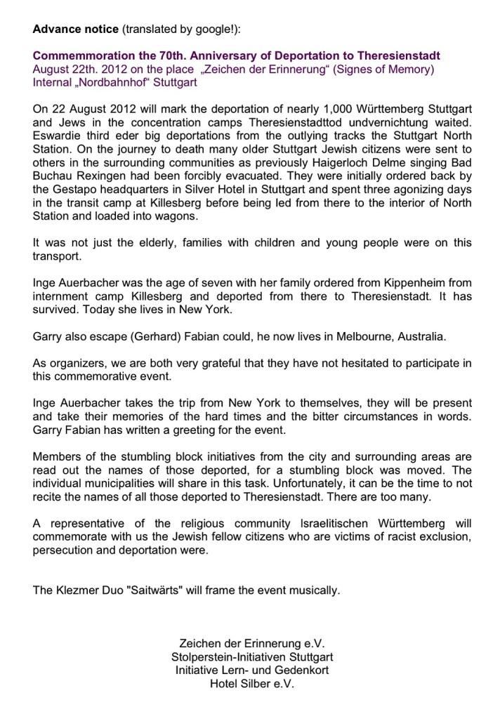 70. Jahrestag der Deportation vom Stuttgarter Nordbahnhof nach Theresienstadt (2/6)