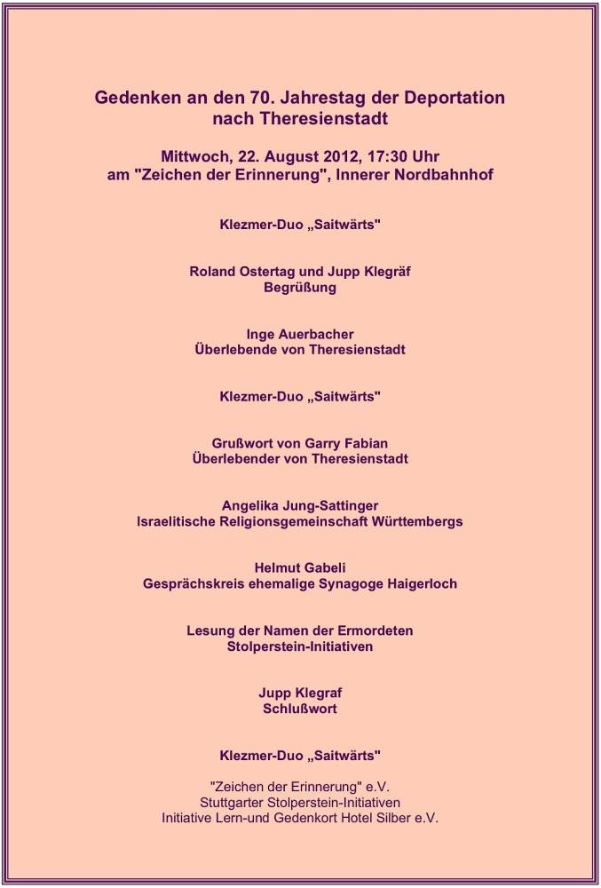 70. Jahrestag der Deportation vom Stuttgarter Nordbahnhof nach Theresienstadt (4/6)