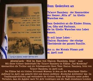 Für Shalom's Vater Ya'acov Stamberg