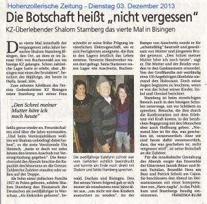 HoZoZeit 03.12.2013 Stamberg