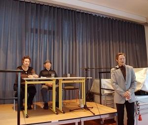 Verein gedenkstäten KZ Bisingen 10jähriges S.Stamberg im Gymnasium Ebingen 27.11.2013  -1