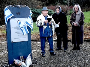 Verein Gedenkstätten KZ Bisingen. 10jähriges KZ Friedhof Bisingen 1.12.2013 - Sahlom Stamberg Kaddisch -10