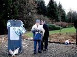Verein Gedenkstätten KZ Bisingen 10jähriges KZ-Friedhof Bisingen 1.12.2013 Shalom Stamberg-Begrüßung