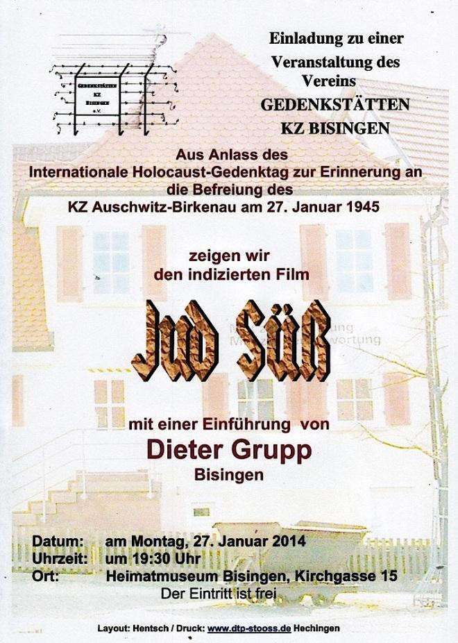 Flyer zum 27. Januar 2014