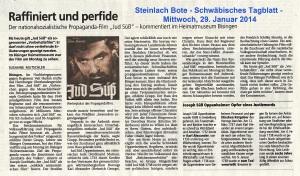 Steinlach Bote 29.01.2014