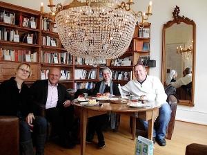 Riehen 1.3.2014 in der Bibliothek F. Blum:J. Czwalin:Sr.Silvia:J.Krüger