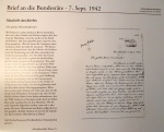 Riehen 1.32014 - Ausstellung Brief an die Bundesräte 1942