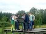 Gedenkstätten KZ Bisingen Lerngang BVE Hechingen 7.7.2014 Geschichtslehrpfad -Appellplatz