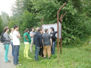 Gedenkstätten KZ Bisingen Lerngang BVE Hechingen 7.7.2014 Geschichtslehrpfad