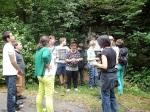 Gedenkstätten KZ Bisingen - Lerngang BVE Hechingen 7.7.2014 - Schieferabbaukante
