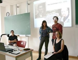 Techn. Gymnasium Balingen, 18. Juli 2014. Besuch der Familie con Otto Gunsberger - ehemals KZ Bisingen -2