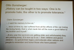 Techn. Gymnasium Balingen, 18. Juli 2014. Thoughts of Otto Gunsberger and of his daughter Clair Vosk-5