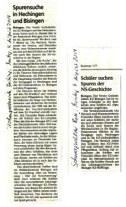 Schüler-AG Realschule Bisingen 2014 - Presse
