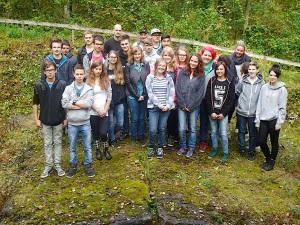 Geschichtslehrpfad KZ Bisingen - Schüleraktion 15.10. 2014 -1