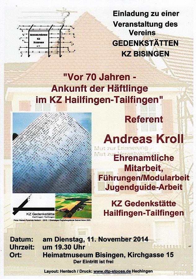 Plakat-Flyer zum 11.11. 2014