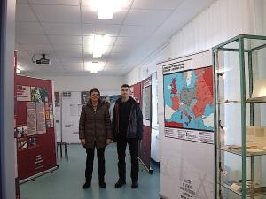 """Dorothee Roos und Arno Huth, Preisträger des 3. Landespreises für seine Forschungsarbeit für Heimatforschung für seine Forschungsarbeit """"Das doppelte Ende des KL Natzweiler auf beiden Seiten des Rheins"""""""