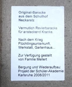 """Text zur ehemaligen """"Kranken""""-Barcke"""