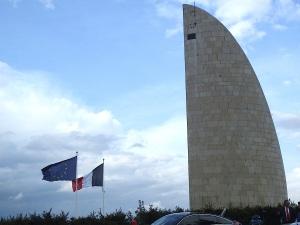 Struthof 26. Aprul 2015 - Flaggen Frankreiches und Europas