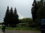 Ein Regenbogen zum Abschluss des Gedenkens