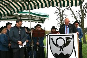 Gedenkstelen in Engstlatt - 3. Mai 2015 Balinges OB Helmut Reitemeier