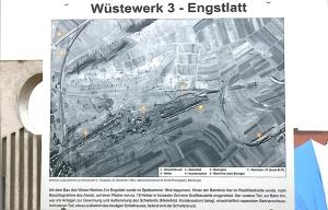 Gedenkstelen in Engstlatt - 3. Mai 2015 Lageplan des Engstlatter Wüstewerks