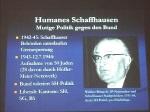 Kleine Leute-große Helfer 11. Juni 205 Gedenkstätten KZ Bisingen e.V. Humanes Schaffhausen