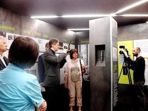 5 Jahre KZ-Gedenkstätte Hailfingen-Tailfingen 28. Juni 2015 Führung durch die Gedenkstätte mit Birgit Kipfer, Verein Gegen Vergessen - für Demokratie