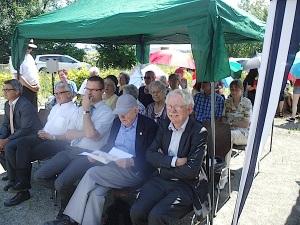 Walter Kinkelin, Dr. Fredy Kahn, Olver Schlamp. Ortsvorsteher Haillfingen, Mordechai CCiechanover, Harald Roth
