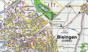Lageplan Geschichtslehrpfad - Museum Bisingen Kopie