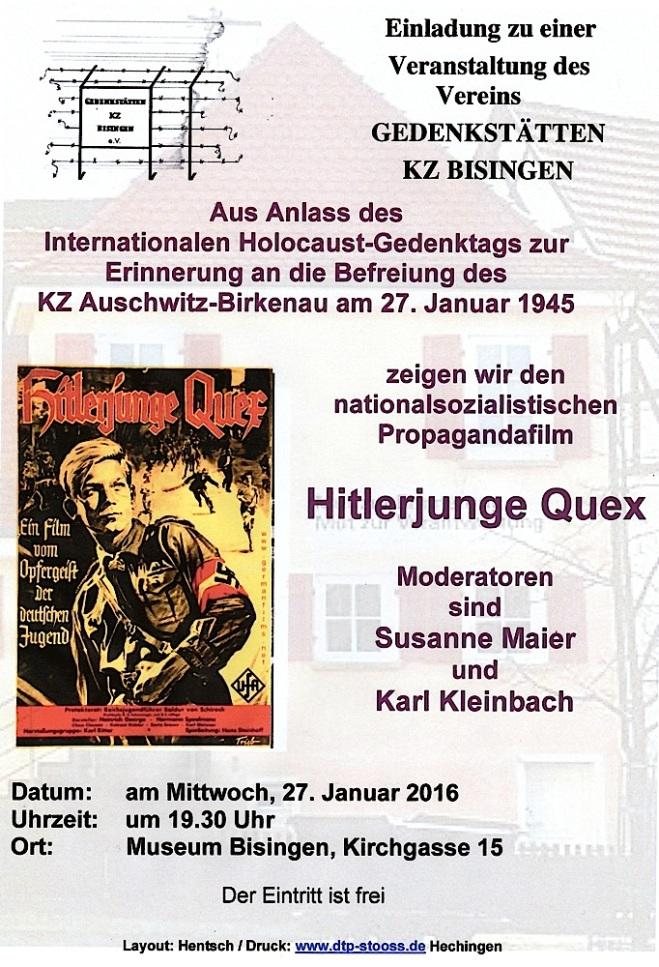 Plakat:Flyer Hitlerjunge Quex