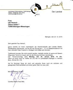 Einladung von Landrat Pauli